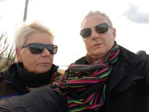 ...ich glaube, Jutta und Marion sind ein wenig traurig, dass wir weg sind und schauen deshalb so enttäuscht...